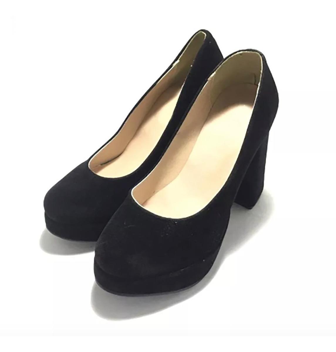 Zapatos Gratis Nude Mujer Val4502 Negros Gamuza Envio cTlFK1J3