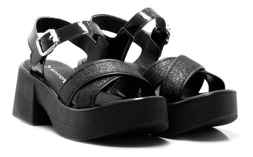zapatos mujer sandalia con taco bajo savage verano