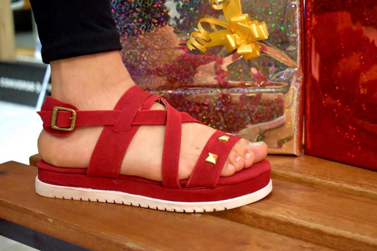 Rojo Zapatos Color Sandalia Mujer Moda Envios Gratis 9IeYD2EWHb