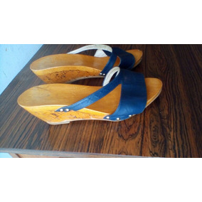 6186eaf98a8 Remate Zapatos Zuecos Sandalias En Madera 37