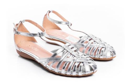 zapatos mujer sandalias bajas livianas ojotas cuero vacuno