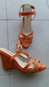 Mujer Naranja Cuero 39 Outlet Zapatos Sandalias 80POkXnw