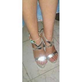 50e14567 Zapatos De Tacon Plateados Usados. Usado - Mérida · Sandalias De Tacón  Super Fashions Plateadas Con Plataforma
