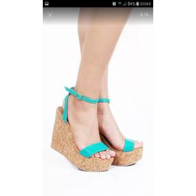 Turquesa Libre Plataforma En Zapatos Azul Verde Mercado LMVSpqzGU