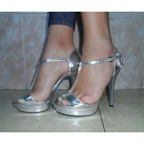 a00adbe5 Sobres Para Fiestas Plateados - Zapatos Mujer Sandalias en Mercado ...