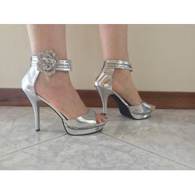 Sandalias Elegantes 37 Para Rdshctqx Fiesta Talla Plateadas hrsCxQdt