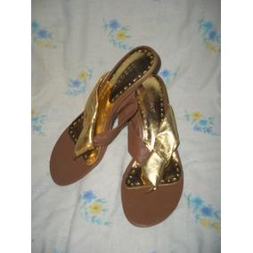 19e9c8af0c8 Sandalias Doradas Bajitas Usadas - Zapatos Mujer Sandalias