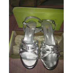 Sandalias Plateadas En Tacon Mercado Sin Mujer Zapatos WIDH9E2