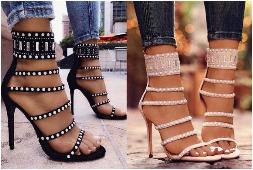 Bonito Sandalias Mujer Zapatos Tacones Tenis Sexy Barato uJlFK1Tc3