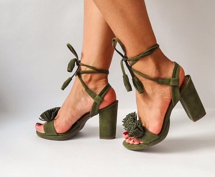 Zapatos verde oliva para mujer op8ZkgatHL