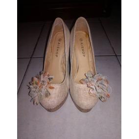 8c6c6aa6 Tacones Con Estampado De Flores. Nuevos - Zapatos en Mercado Libre ...