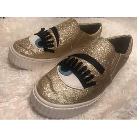 Dorados Ojitos Pavitas Con Escarchados Zapatos y80wONvnm