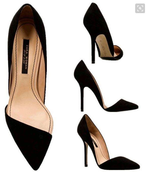 mejor servicio bfc31 38ae6 Zapatos Mujer Zara Negros Talle 38 Stilettos
