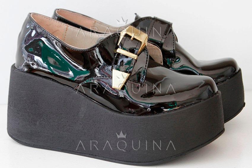 2fc968dd2289d Cargando zoom... mujer zueco zapatos. Cargando zoom... zapatos plataforma  mujer - zueco charol moda dama - araquina