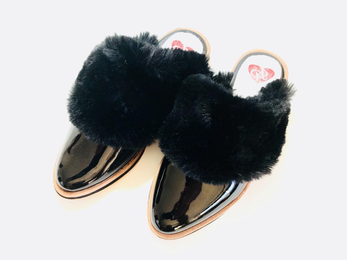 c8d1340448a Cargando zoom... slippers zuecos zapatos con pelo mujer invierno 18 hot sale
