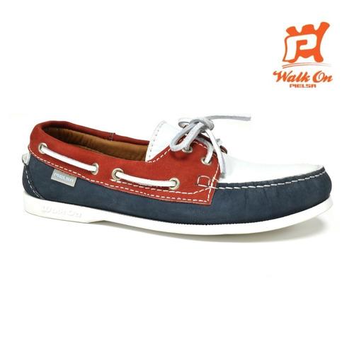 zapatos nauticos mocasines azul caballero pielsa pi 0006