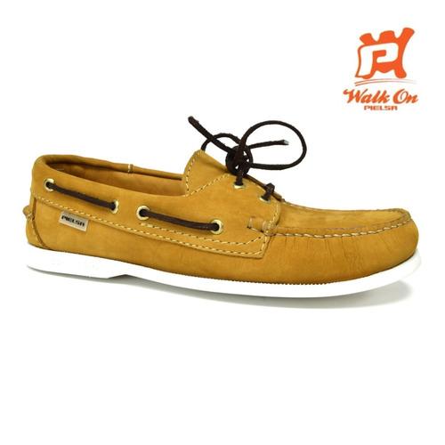 zapatos nauticos mocasines beige caballero pielsa pi 0003
