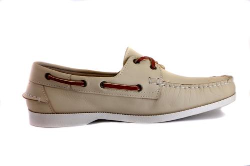 zapatos nauticos mocasines peskdores cream cr00041