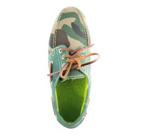 zapatos nauticos mocasines peskdores green camo gc00030