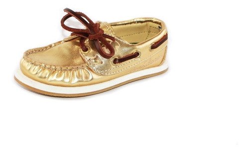zapatos nauticos mocasines peskdores niños gold go00023