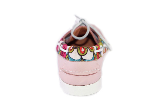 zapatos nauticos mocasines peskdores rose flower rof00038