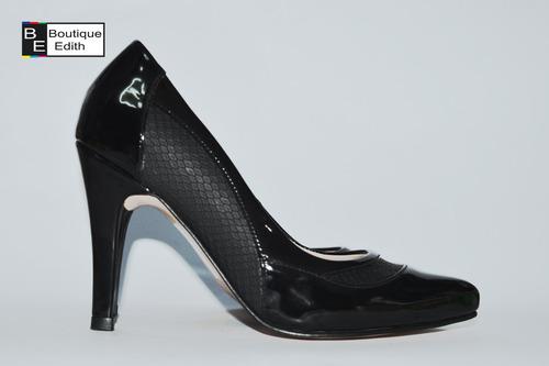 zapatos negro brillante de fiesta para mujer envíos perú