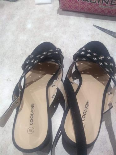 zapatos negros cool pink