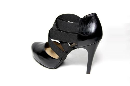 zapatos negros cuero milano bags con elástico