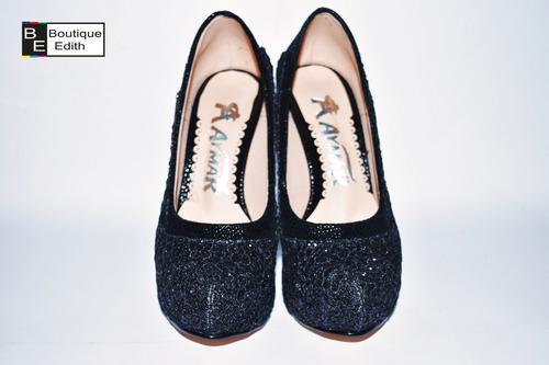 zapatos negros de fiesta para mujer envios a todo el peru