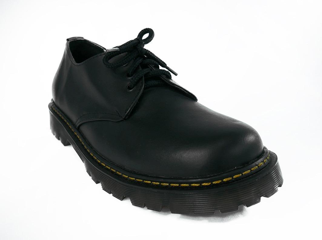1fa73bdd138 Zapatos Negros Piel Choclo Unisex Martins Punk Escolar 1461 ...