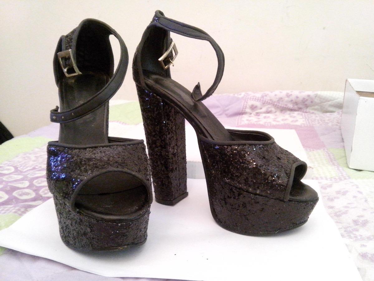 Fiesta Glitter Negros Cargando Plataforma Zoom Sandalias Zapatos RFxSwqaUff 677525028bbb