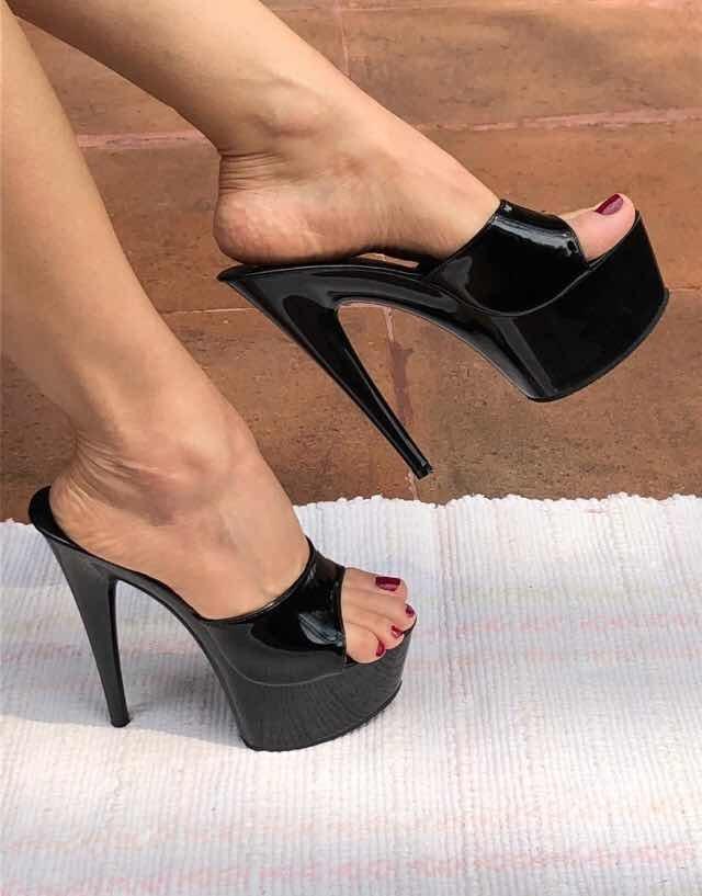 5265165f Zapatos Negros Tacón 15 Cms Elegantes Talla 24 Sexys - $ 1,099.00 en ...