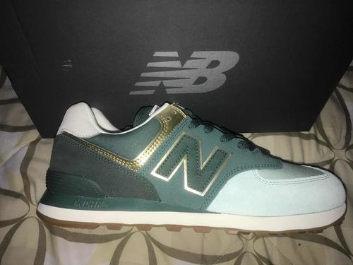 zapatos new balance 574 unisex hombre 10us y dama 12us 60vrd