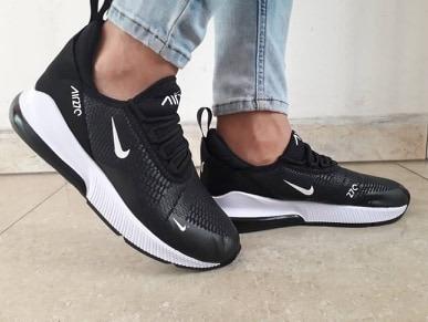 zapatos nike 270 negro y blanco para damas y caballeros