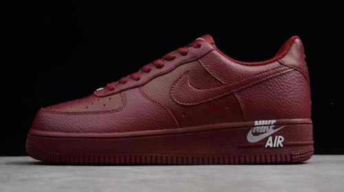 *\zapatos nike air force one 07 color vino mujer/*