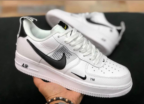 *~*zapatos nike air force one blanco negro 2019*~*