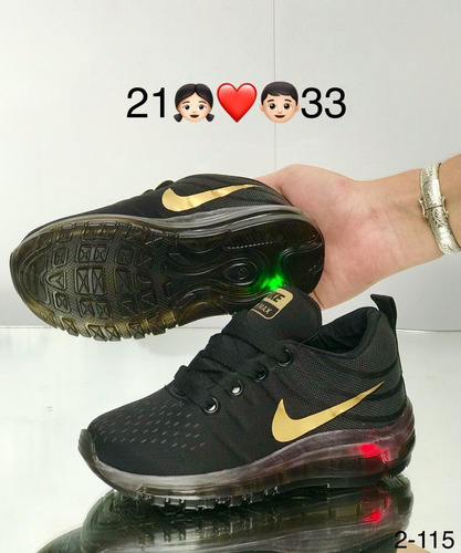 zapatos nike de luces para niños colombianos