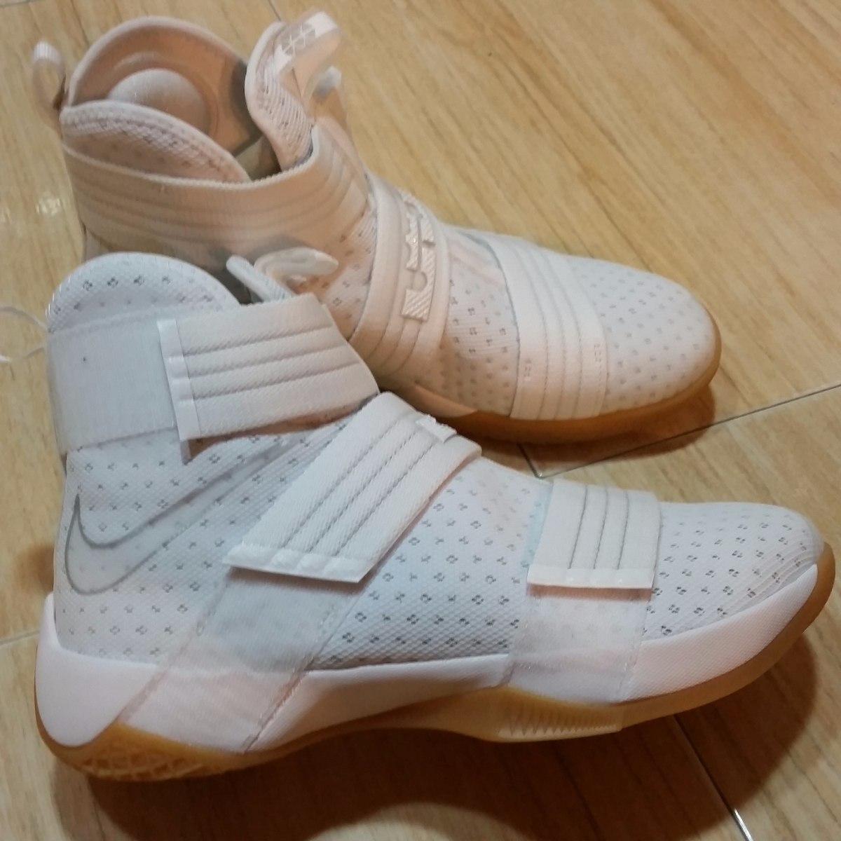 ... zapatos nike lebron soldier 10 originales talla 9.5 blancas ...