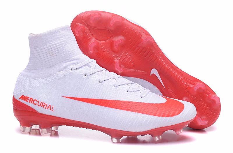 734c994966607 zapatos nike mercurial caña alta blanco rojo   sneakerbox. Cargando zoom.