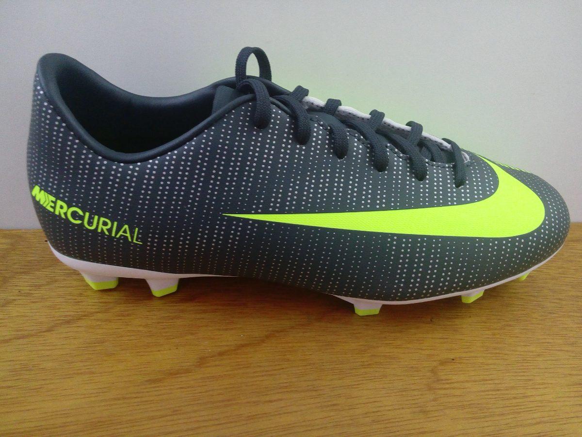 buy popular 88076 38b1e Zapatos Nike Mercurial Vapor 11 Cr7 Fg Gris / Verde Niño