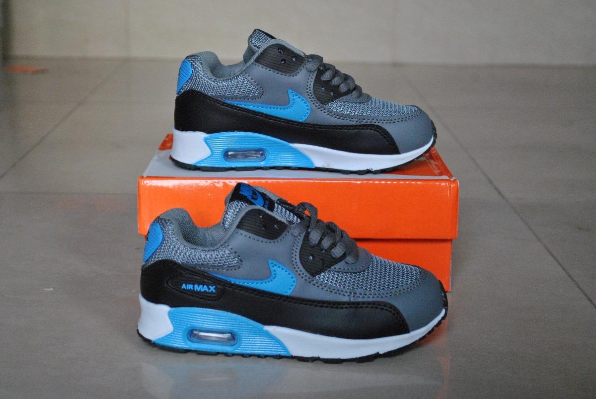 0729e88db53 kp3 zapatos nike air max 90 gris azul para niños. Cargando zoom... zapatos  nike niños. Cargando zoom.