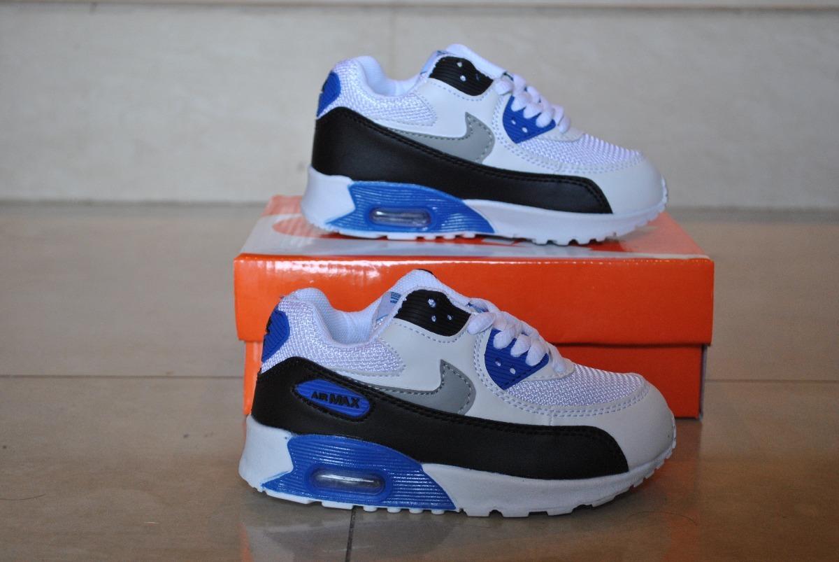 cca28b737e7 Cargando zoom... nike niños zapatos. Cargando zoom... kp3 zapatos nike air  max 90 blanco azul para ...