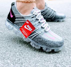 Zapatos Plataformas De Pepas Zapatos Nike de Mujer Gris en
