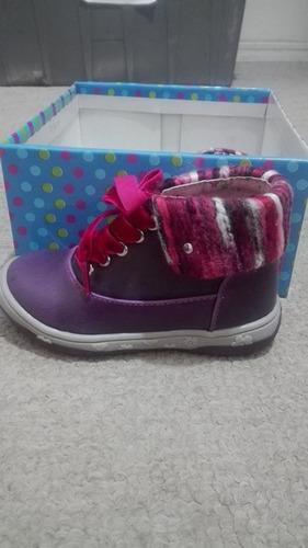 zapatos niña toe zone lila de cuero, nuevos originales