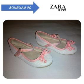 1a29ca6d244 Zapatos Zara Baby Talla 20 Usados(14cm) Rosado Con Blanco