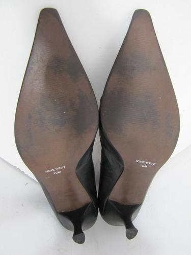zapatos nine west cuero negro talla 40 (10m) envío gratis¡¡
