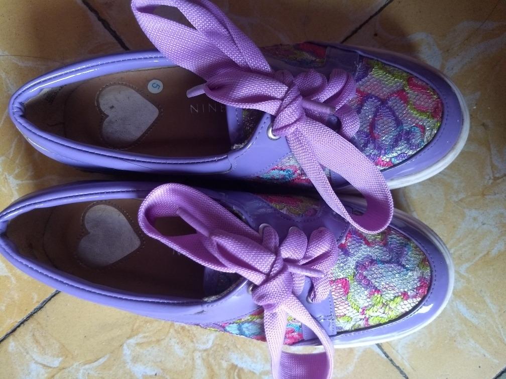Zapatos Nine West Morados Para Niña -   350.00 en Mercado Libre 9b6de0178ada5