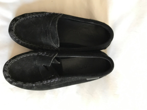 zapatos niño de gamuza negro n 33