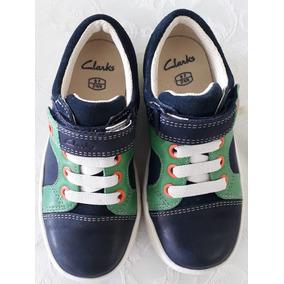 0fd104c68e6fe Zapatos De Niños Clarks Original Casual Talla 27