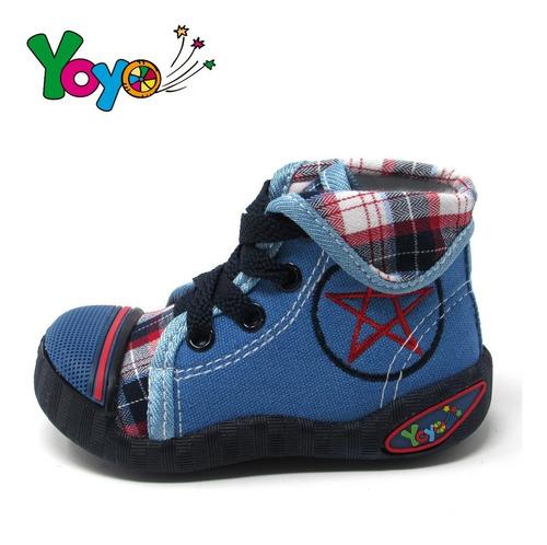 zapatos niños yoyo m1019 azul 19-24. envío gratis